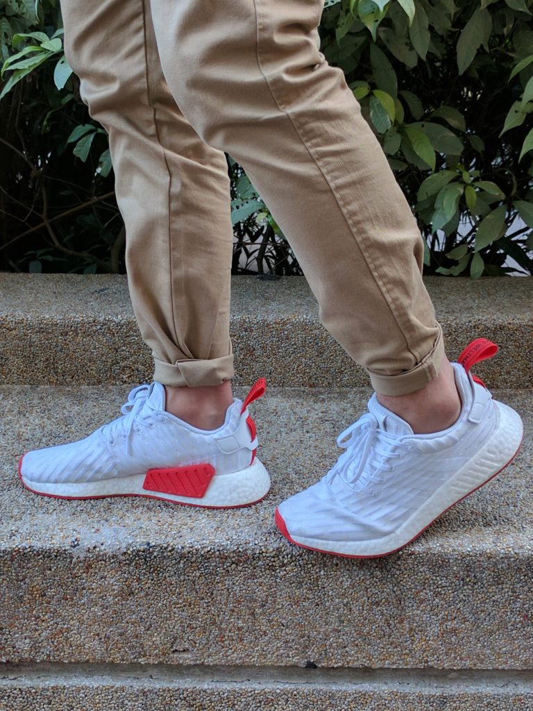 NMD R2 White Core Red (Two Toned) Review - Second Basement bfc566509